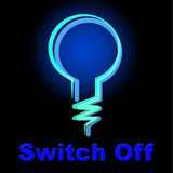 Switch Off Means Save Electricity And Energy Royalty Free Stock Images