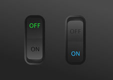 Switch on and off Royalty Free Stock Image
