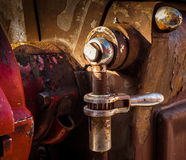 Switch of old machine in factory Royalty Free Stock Photos