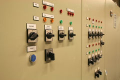 Switch panel. Industry switch panel, on and off stock images