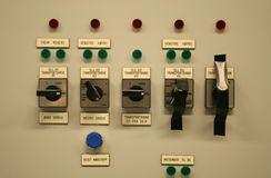 Switch panel. Royalty Free Stock Images