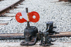 Switch on Railroad Tie Stock Image