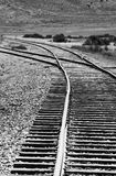 Switch in Railroad Track Stock Images