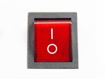 Switch. Red switch in the off position Stock Photography