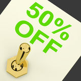 Switch Shows Sale Discount Of Fifty Percent Off 50. Switch Shows Sale Discount Of Fifty Percent Off Stock Images