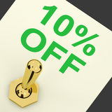 Switch Shows Sale Discount Of Ten Percent Off 10 Royalty Free Stock Photo