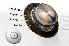 Switch skill level. Concept of skill level in the form of a ring switch Stock Photo