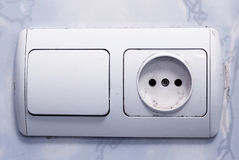 Switch and Socket Royalty Free Stock Photos