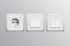 Switch and socket Royalty Free Stock Photography