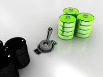 Switch to green. A toggle switch, making the green choice Stock Images