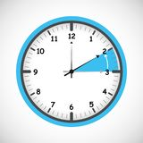 Switch to winter time concept for daylight saving. Vector illustration EPS10 stock illustration