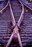 Switch at train tracks Stock Photography