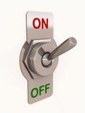 Switch turn on Stock Photo