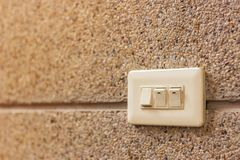 Switch on wall royalty free stock photo