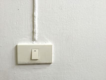 Switch on wall Royalty Free Stock Photos