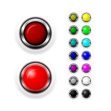 Switch Web Buttons Stock Photography