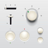 Switch web buttons. Set of switch web buttons - website elements Royalty Free Stock Images