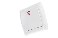 The switch on white background Royalty Free Stock Images