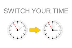 SWITCH YOUR TIME Stock Photos