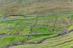 Switchback εθνική οδός βουνών στοκ εικόνες με δικαίωμα ελεύθερης χρήσης