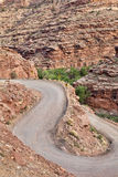 Switchback canyon road Royalty Free Stock Photos