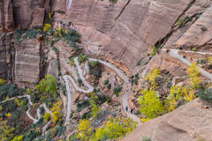 Switchback hiking trail Royalty Free Stock Photos