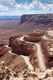 Switchback Road called the Moki Dugway Royalty Free Stock Images