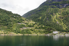 Switchback road at Geiranger fjord Royalty Free Stock Photo