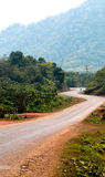 Switchback road in Laos Royalty Free Stock Photography