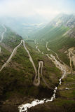 Switchback road on mountain royalty free stock images