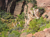 Switchbacks to Angels Landing, Zion National Park Stock Photo