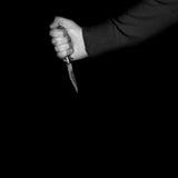 Switchblade del estilete del asesino Imágenes de archivo libres de regalías