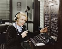 SWITCHBOARD royalty free stock photo