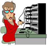 Switchboard operator Royalty Free Stock Photography