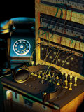 Switchboard and telephone Royalty Free Stock Images