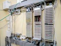 switchboard Uma comunicação do painel de controle foto de stock