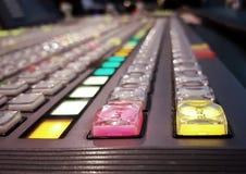 Switcher av television Broadcast5 arkivfoton