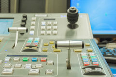 Switcher controlling handle video of television Stock Photography