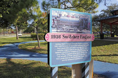 1936 Switcher Engine Sign Royalty Free Stock Photography