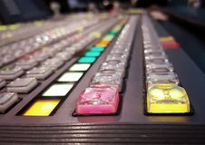 Switcher of Television Broadcast5 Stock Photos