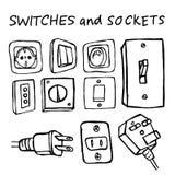 Switchers στο άσπρο υπόβαθρο Στοκ φωτογραφίες με δικαίωμα ελεύθερης χρήσης