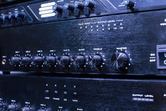 Switchers of the iron blue video processing unit Stock Photos