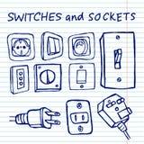 Switchers op voorbeeldenboekachtergrond vector illustratie