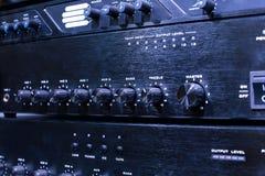 Switchers van de ijzer blauwe videoverwerkingseenheid Stock Foto's
