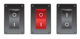 Switches. Set of switches on the white Stock Photos