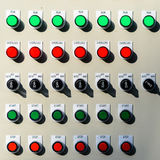 Switches board. Switches on an industrial control board royalty free stock photography