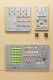 Switches on a control panel of soviet spaceship Royalty Free Stock Image