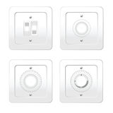 Switches in different variants vector illustration Royalty Free Stock Photos