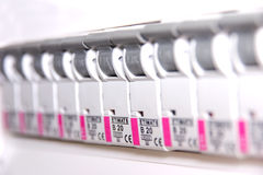 Switches in fusebox Royalty Free Stock Photo
