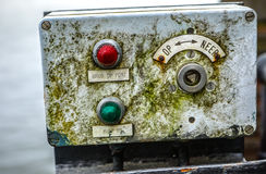 Switches on an industrial control board Royalty Free Stock Image